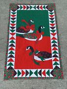 Vintage Grandma's Patchwork Quilt Amish Canadian Goose Geese Christmas ❤️sj11h5s