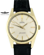 Vintage 1961 Omega Seamaster 14700 Gold Shell 34mm Silver Dial Automatic Cal 552