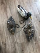 3 Carry Lite Milwaukee Wis Duck Decoys With Weights Made In Italy
