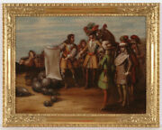 Jan Wyck 1652-1700 - Follower Soldiers In The New World Oil Painting
