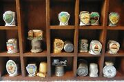 Thimble Lot Of 19 Vintage Metal Players Casino Calico Az In Nc Tombstone Caverns