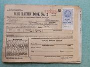 Wwii World War 2 War Ration Book No. 3 With Stamps- Office Of Price Admin Stamp