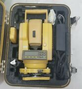 Topcon Gts-211d Total Station For Surveying With Original Case Gts211 D
