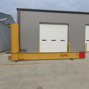 Gorbel 2 Ton Cantilever Jib Crane 20and039 Swing 15and0396 Trolley Travel Wall Mounted
