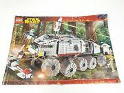 Lego Booklet Instruction Manual Only 7261 Star Wars Clone Turbo Tank