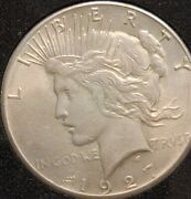 1927- P Peace Dollar 1, Key Date, Nice Coin, Definitely One To Put In Collec.