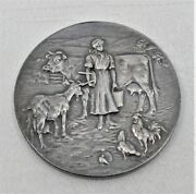 Antique Sterling Silver Medal 1920 British Dairy Farmers Assoc.