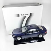 Rare - Kyosho 745i 2001 Bmw Dealer 1/18 Diecast Model W/ Stand And Memo - In Box