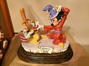 Disneyand039s Sorcerer Mickey Figurine By Laurenz Limited Edition 192/5000 Rare Vin