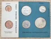 Royal Australian Mint 1966 First Year Uncirculated Decimal Coin Poly-card