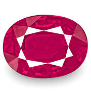 Igi Certified Burma Ruby 1.15 Cts Natural Untreated Rich Intense Pinkish Red
