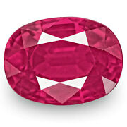 Igi Certified Burma Ruby 1.25 Cts Natural Untreated Rich Pinkish Red Cushion