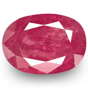Igi Certified Burma Ruby 2.78 Cts Natural Untreated Intense Pinkish Red Oval