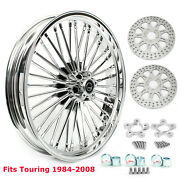 21x3.5 Fat Spoke Front Wheel W/ Rotors For Harley Touring Electra Glide 84-08