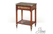 L49545theodore Alexander 5052-015 Eglomise Glass And Mahogany Nightstand New