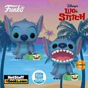 Funko Pop Disney Chase Stitch Record Player Exclusive Chase Edition In Hand