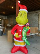 Gemmy Christmas Inflatable 9and039 Giant W/nice Stocking Airblown 1b