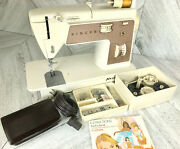 Singer 758 Zig Zag Sewing Machine Touch And Sew Vintage Touch-n-sew W/ Foot Pedal