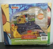 Vintage Disney Lion Guard Twin Flat And Fitted Sheets, Plus 1 Pillow Case
