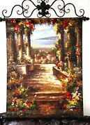 Silvano Assensi Original Oil Canvas Painting Italy Signed Cast Iron Frame 37x47