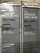 Lot Of 4 Window Mini Blinds 68x64 White Vinyl Cordless Shades Cover