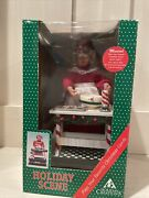 Animated Musical Mrs. Santa Claus Baking Cookies Vintage Holiday Creations Scene
