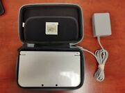 Nintendo 3ds Xl Limited Edition 1gb White Handheld System W/ Echoes And Case