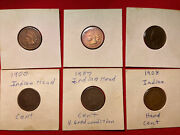 Lot Indian Head Cents - 1900 1902 1903 1904 1907 1908