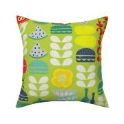 Mid Century Modern Cookout Bbq Throw Pillow Cover W Optional Insert By Roostery