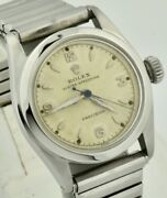 Vintage Rolex Oyster Speedking 6056 Stainless 30mm Hand-winding Watch Serviced