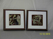 Harris Strong Listed Artist Cubist Hand Painted Art Pottery Gallery Tile Coa