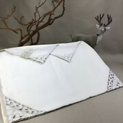 Unused Leacock Hand Made Madeira Placemat And Napkin 8 Piece Set Azores
