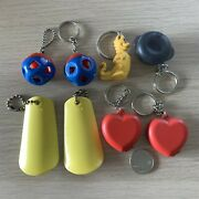 Lot Of 8 Tupperware Mini Keychains Key Rings Shoe Horn Heart Container Dragon