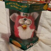 Christmas Furby Red White 1999 Blue Eyes 70-885 Special Limited Edition New