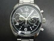 Bell And Ross 126b-m St. Steel Automatic Antimagnetic Swiss Chronograph Wristwatch