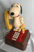 Snoopy And Woodstock Vintage Rare 1976 Phone - Push Button Made In Usa