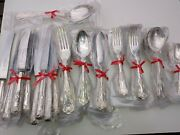 8 Settings Quality Webber And Hill Vintage Kings Silver Plate Cutlery 74 Pce 60s