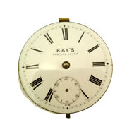 English Kays Of Worcester Lwc Non-fusee Pocket Watch Movement 1895
