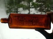 Antique Amber Fully Embossed Lashes Bitters Bottle - Old Bitters Bottle