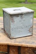 Antique Vintage Medical Box Ambulance Metal Safe Strong Box Wwii Rare Apothecary