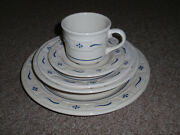 Longaberger Pottery, Classic Blue 5 Piece Place Setting/usa, New Other