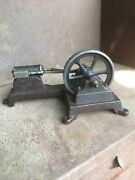 Early Steam Engine Small Boat Train Motor Antique Vintage Brass Gear Original