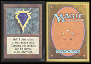 Magic The Gathering Mox Sapphire _1472 Color Fade On Edges Collectorand039s Edition