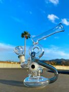 9 Hookah Glass Water Pipe Bong Premium Scientific Recycler Fast Shipping