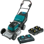Cordless Walk Behind Self-propelled Lawn Mower Kit 21 Inch With 4 Batteries Lxt