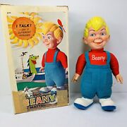 Vintage Talking Beany Doll Beany And Cecil Mattel With Box And Propeller 1961