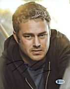 Taylor Kinney Autographed 8x 10 Chicago Fire Staring Photo Beckett Bas Coa