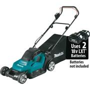 Makita Cordless 17 Inch Walk Behind Residential Lawn Mower 36-volt Max Tool Only