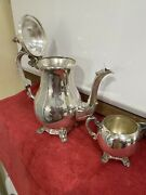Vintage F.b.rogers Silver Co 1883 Silverplate 2 Piece Tea Pot And Creamer