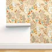 Wallpaper Roll Vintage Bunnies Spring Easter Rabbits Baby 24in X 27ft
